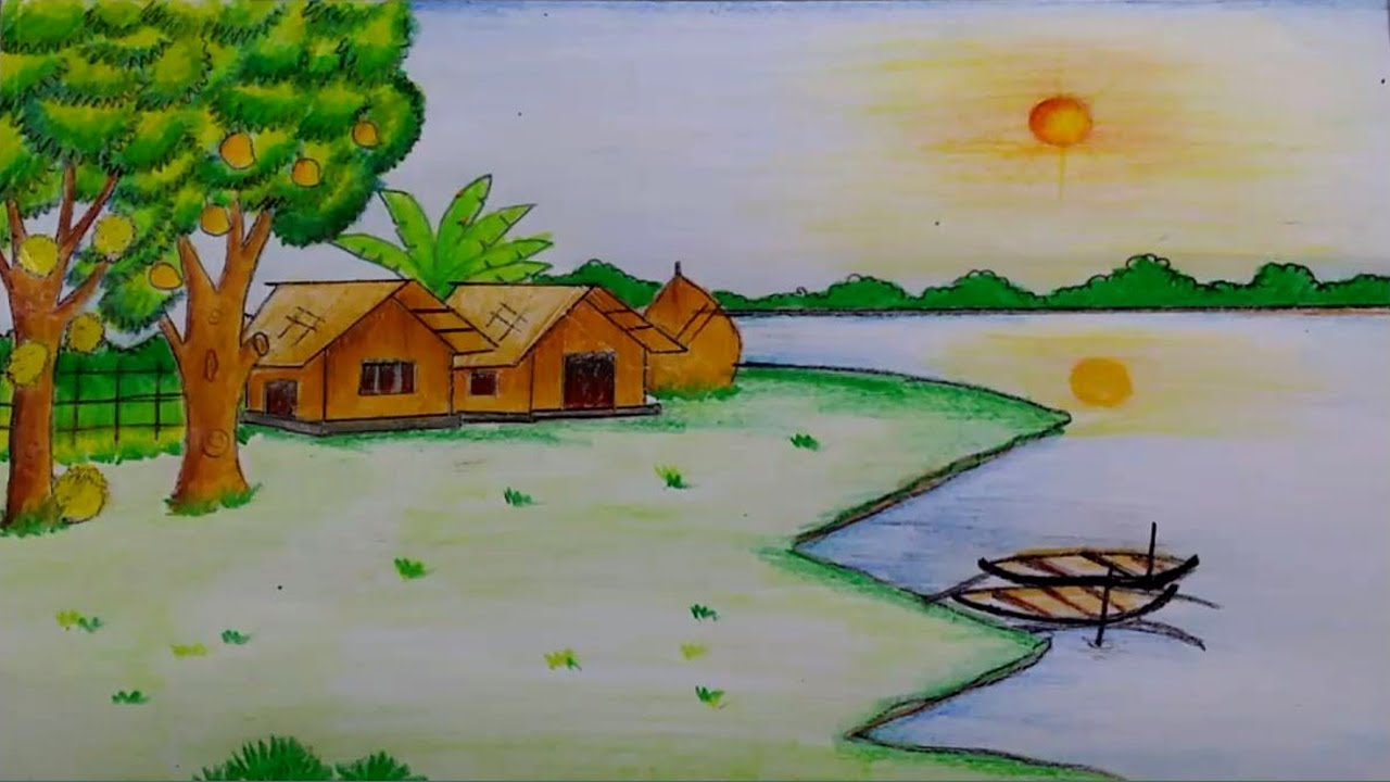 территории рисунок про лето средней